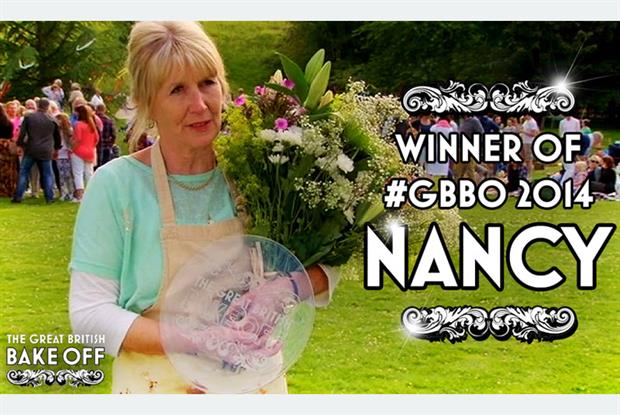 Great British Bake Off winner retired practice manager Nancy Birtwhistle Pic: Love Productions