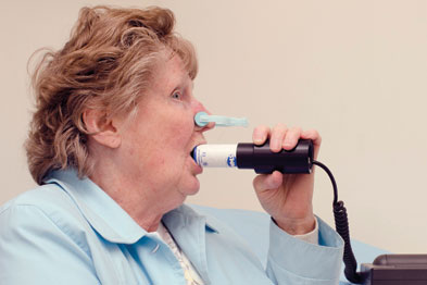 Spirometry: research shows GPs can lead lung rehab (photo: P. Marazzi/Science Photo Library)