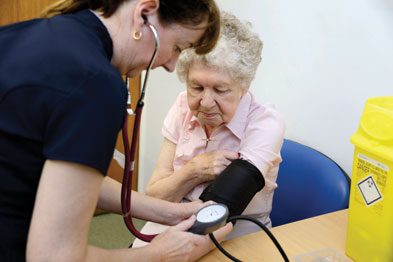 BP monitoring: variations raise dementia risk (photo: Science Photo Library)