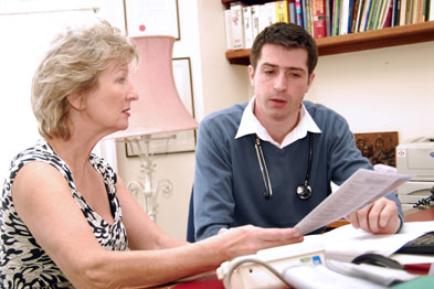 Five patients would need to be given booklets for one patient to report a subjective improvement in function at one year.