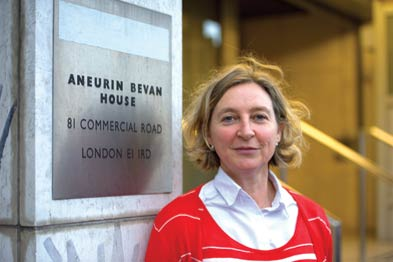 Dr Risi outside Aneurin Bevan House, the offices of NHS Tower Hamlets, where as a locum, she has seen opportunities in CCGs arise (Photograph: JH Lancy)