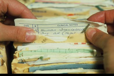 There are specific circumstances where relevant information from a patient's notes should be discussed (Photograph: SPL)