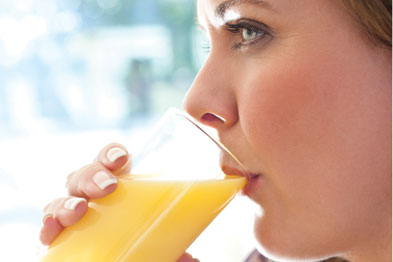 Drinking orange juice with a meal can significantly improve iron absorption