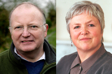 Dr Tim Ballard and Professor Amanda Howe: RCGP vice chairs-elect