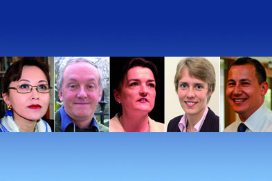 (From left to right) Dr Coales, Dr Mathers, Dr Mckeowan, Dr Hall and Dr Mawle