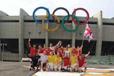 2009, the team in front of the Olympic Stadium in South Korea where they won the tournament