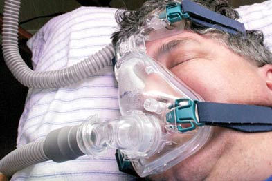 CPAP is considered the gold standard treatment for OSAHS (Photograph: SPL)