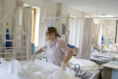 Increase in the number of hospital beds needed reveals effect of swine flu