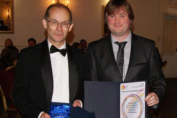From left to right: Dr Banyard and Dr Davies Pic: Warrington CCG