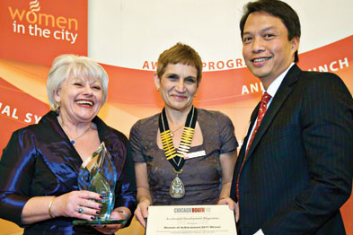 Dr Gerada won the 2011 Women in the City - Woman of Achievement Award