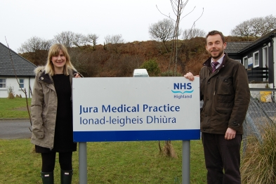 Drs Martin Beastall and Abby Beastall moved to the island after it launched a Facebook campaign to find a permanent GP (Photo: Dr Martin Beastall)