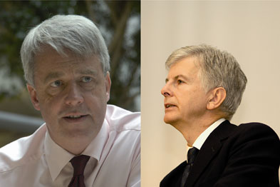 Andrew Lansley (left), Mike O'Brien (right)