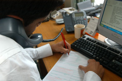 Paperwork: benefits rules drive up work for GPs in deprived areas