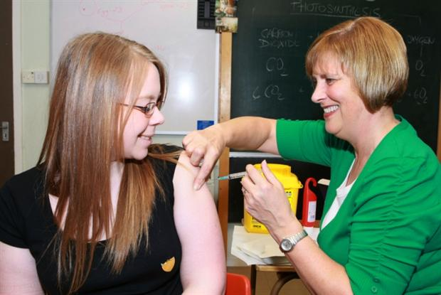 HPV jab: incidence of pre-cancerous lesions may be falling (Photo: Consolidated Scotland)