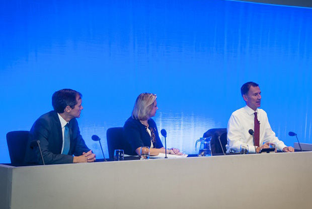 Jeremy Hunt responds to GPs' questions (Photo: Pete Hill)