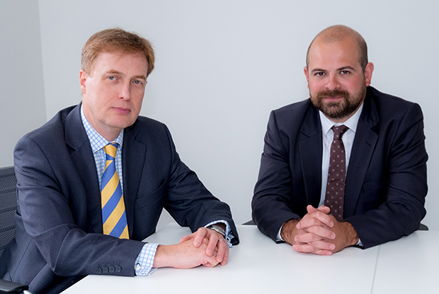 MDU solicitors Ian Barker (left) and Nicholas Tennant
