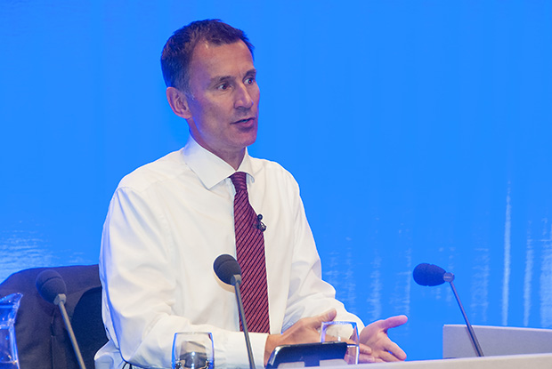 Health secretary Jeremy Hunt answering question at the RCGP annual conference (Photo: Pete Hill)