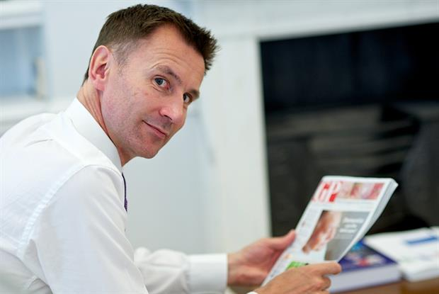 Jeremy Hunt: responding to GPonline readers' questions (Photo: JH Lancy)