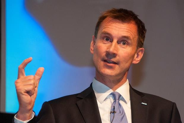 Mr Hunt: ' We will be the first country in the world to have a nationwide MenB vaccination programme.' Pic: Pete Hill