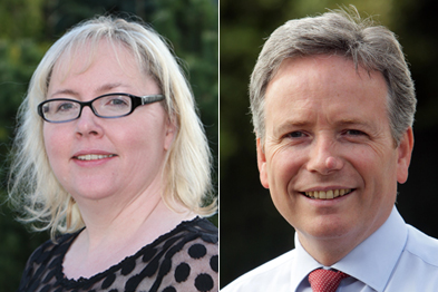 Dr Charlotte Jones and Dr Tom Black: nearing deals on 2014/15 GP contract