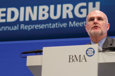 BMA chairman Dr Mark Porter: listen to clinicians (photo: Tony Marsh/BMA)