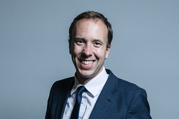 Health and social care secretary Matt Hancock