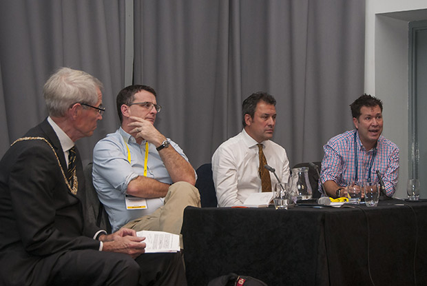 Pictured (l to r): RCGP president Dr Terry Kemple, Dr Matthew Dolman, Dr Steve Mann and Dr Paul Bowen (Photo: Pete Hill)