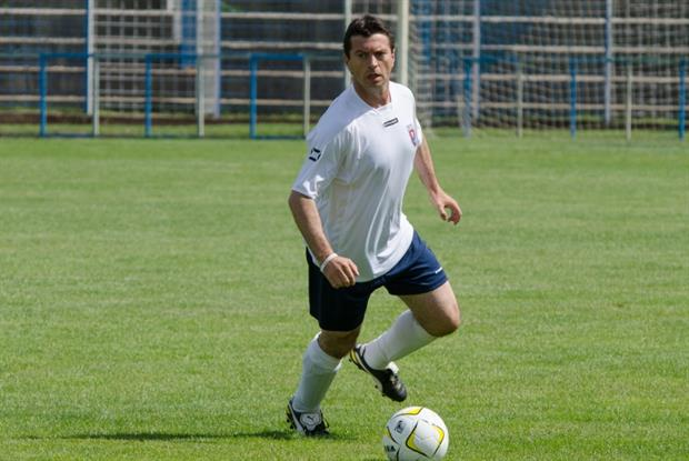 GP Dr Fourie plays for the British Medical Football Team (Photo: Joshua Gow Photography)