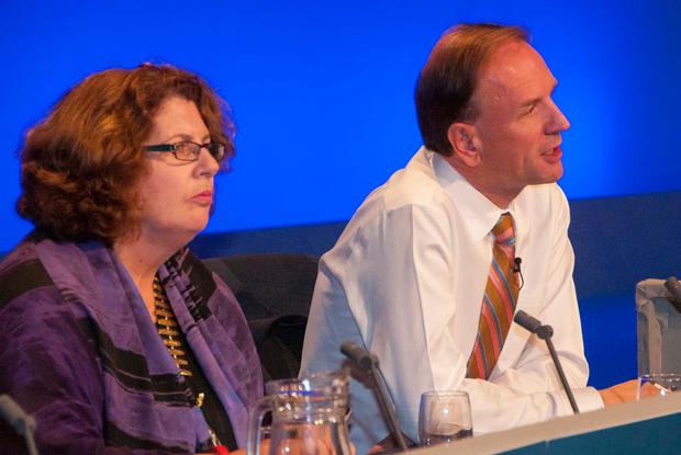Dr Maureen Baker and Simon Stevens (Photo: Pete Hill)