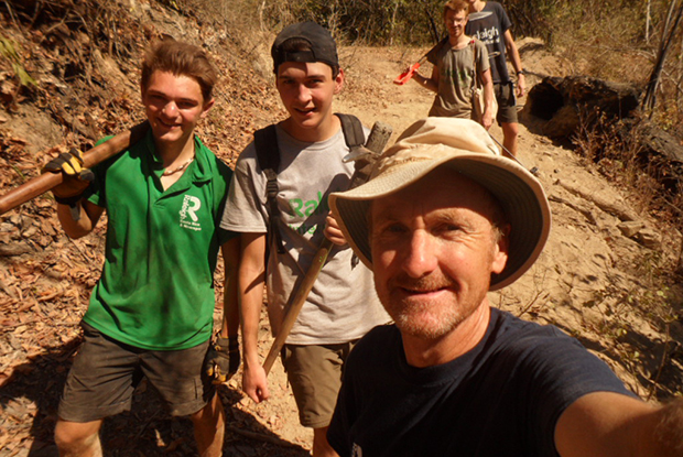 Dr Nic Allen, pictured with Raleigh International volunteers in Nicaragua during his sabbatical year