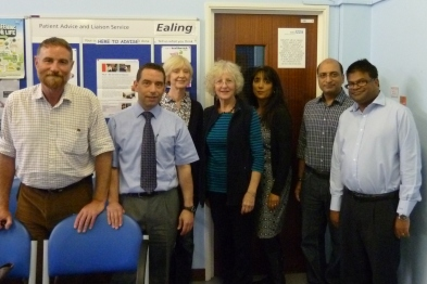 Gordon House Surgery: (left to right) Dr Marcus Soldini, Dr Ian Bernstein, Mrs Christine Heaton, Mrs Diana Dishley, Mrs Kalpana Kamboj, Dr Naeem Qureshi, Dr Ravi Ramanathan