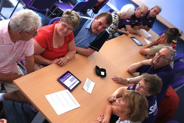 Stroke group: guide launched