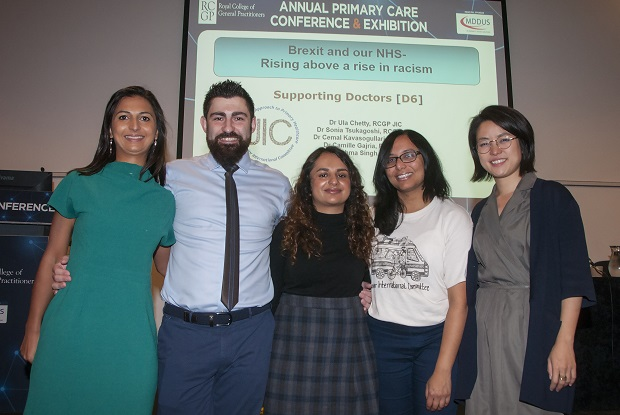 Dr Ula Chetty (left) and colleagues leading an RCGP conference workshop on Brexit (Photo: Pete Hill)