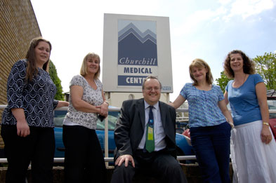 Pictured L-R: Rebecca Stevens, Susie Puffett, Dr Charles Alessi, Dr Maggie Walker and Jane Kingwill