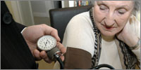 Ninety-eight per cent of diabetes patients had BP measured