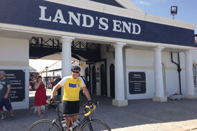 Dr Wild reached Land's after a two week cycling marathon