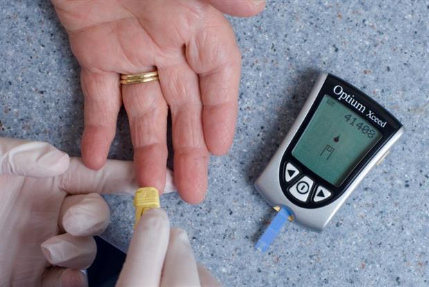 Diabetes test: Pic: Jim Varney