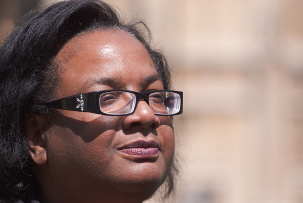 Diane Abbott: Labour shadow health secretary debating end of NHS privatisation (Photo: Gruffydd Thomas / Alamy Stock Photo)