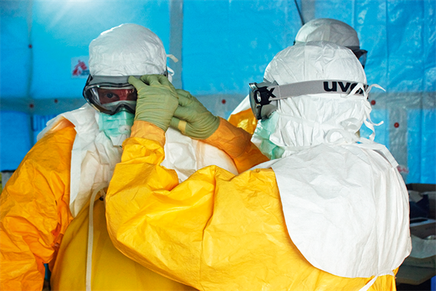Managing Ebola patients includes stringent infection control procedures (SPL)