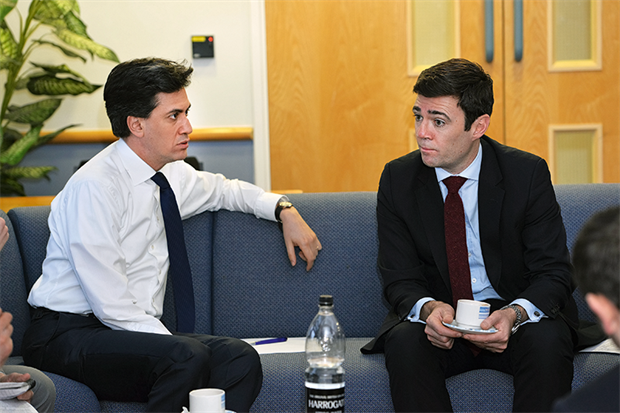 Labour leader Ed Miliband (left) and shadow health secretary Andy Burnham (Phil Hill, UNP)