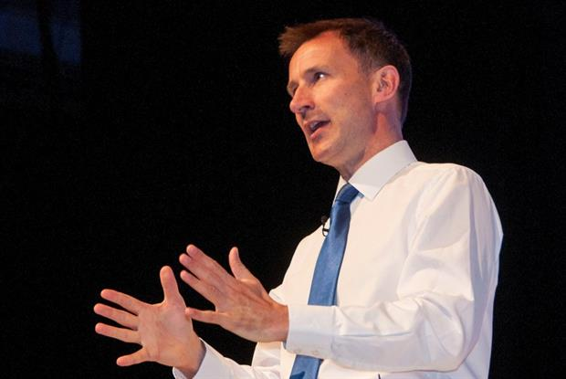 Jeremy Hunt: speech on new deal for GPs (Photo: Pete Hill)
