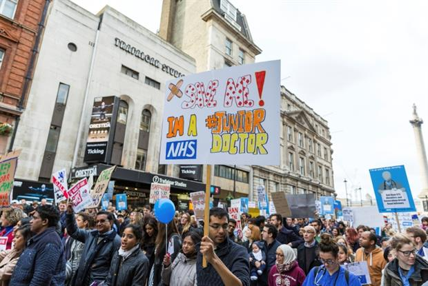 Junior doctor protests in London (Photo: iStock)