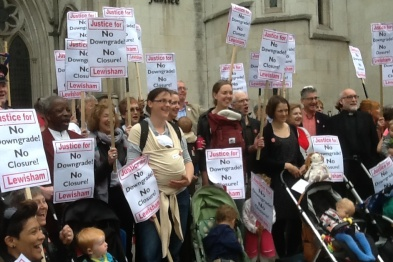 Lewisham hospital protest: cuts 'put vulnerable patients at risk' (photo: Save Lewisham Hospital campaign)
