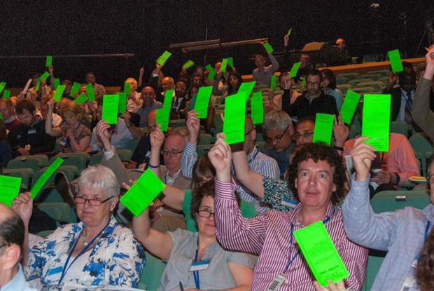 LMC votes: delegates not swayed by Elvis (Photo: Pete Hill)