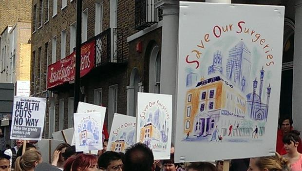 Hundreds joined GPs on the march to save surgeries