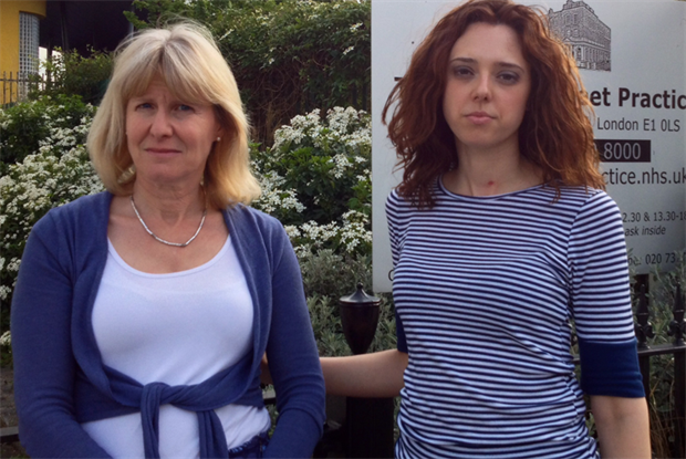Dr Naomi Beer (left) and practice manager Virginia Patania (photo: Jubilee Street Practice)