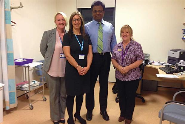 Inovating in Traveller health (l to r): executive practice manager Lisa Ripley, service delivery manager Lesley Ray, GP Dr Vijay Kumar and Gypsy/Traveller community liasion staff member Anita Jackson