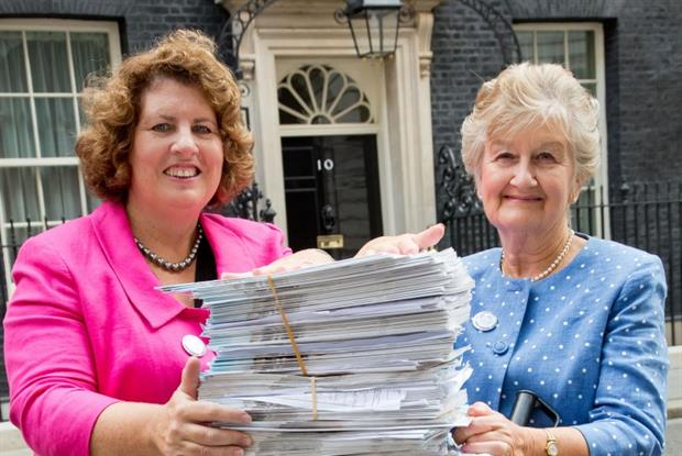 Petition: Dr Maureen Baker (left) and Patricia Wilkie (Photo: RCGP/Grange Photography)