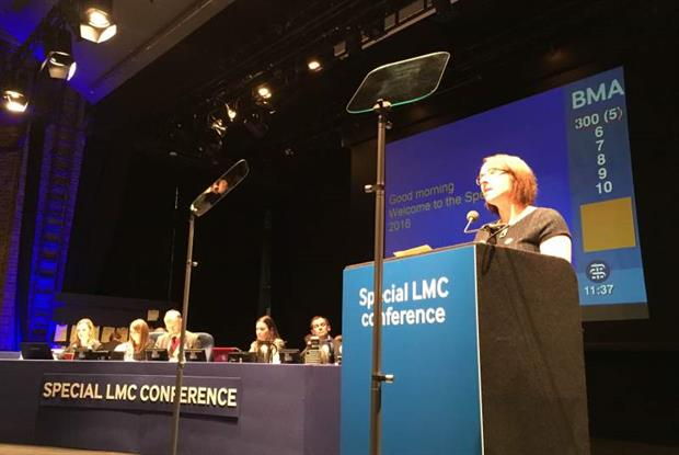 Dr Zoe Norris at the special LMCs conference in London earlier this year