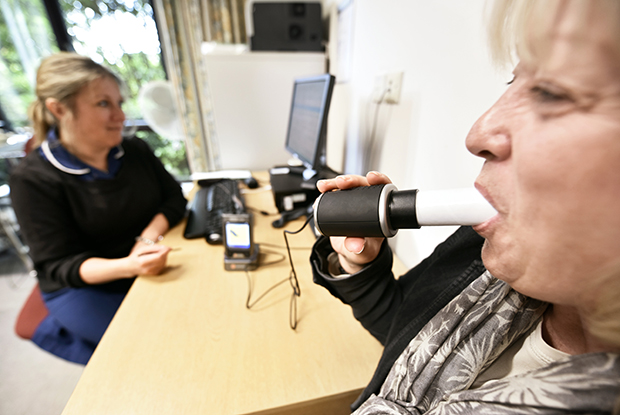 Spirometry: most practices provide this without additional funding (Photo: Dr P Marazzi/Science Photo Library)